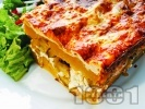 Рецепта Картофи огретен на фурна със сирене, настърган кашкавал, прясно мляко и яйца